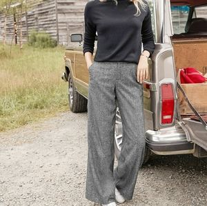 Cache' Vintage Wide Leg Tweed Trousers  Size 12